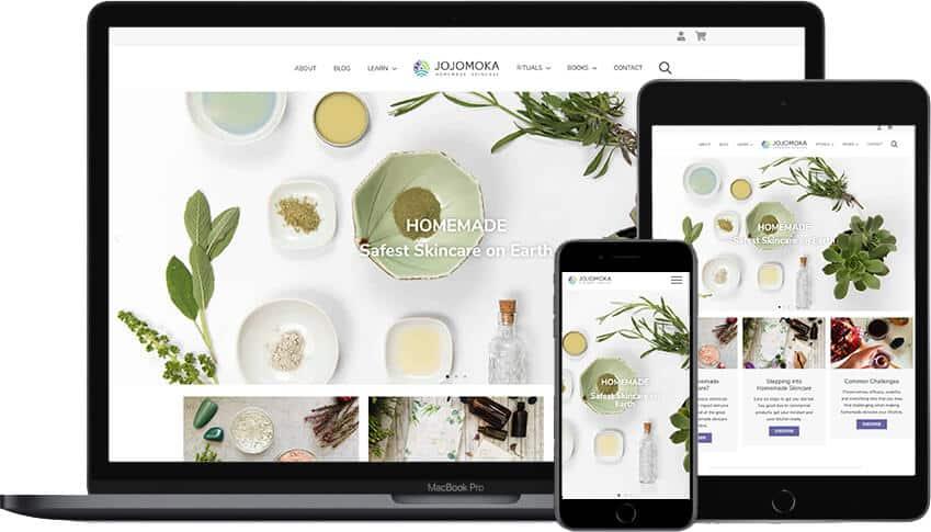 Web design portfolio JoJomoka