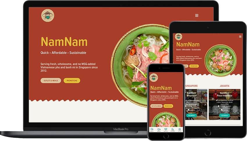 Web Design Portfolio NamNam