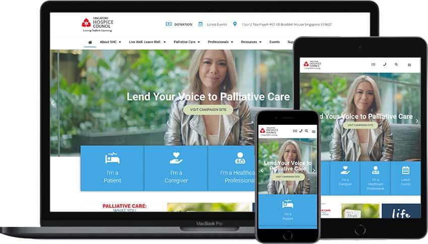 Web Design Portfolio Singapore Hospice