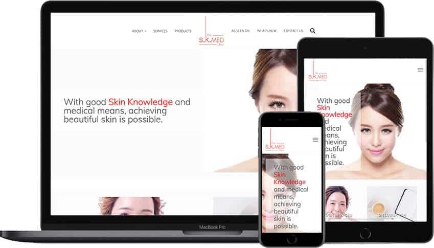 Web Design Portfolio TheSKMedClinic